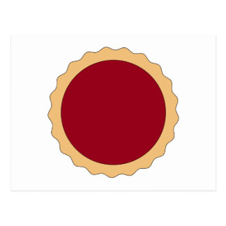 Jam Tart. Raspberry Red. Postcard