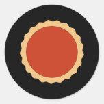 Jam Tart. Strawberry Red. Round Sticker