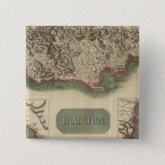 Jamaica 15 Cm Square Badge