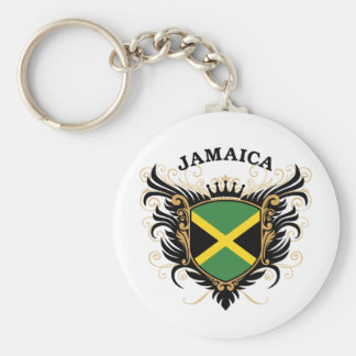 Jamaica Basic Round Button Key Ring