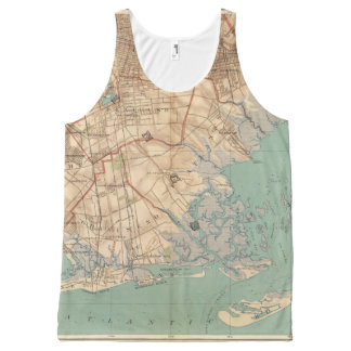 Jamaica Bay and Brooklyn All-Over Print Tank Top