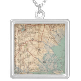Jamaica Bay and Brooklyn Square Pendant Necklace