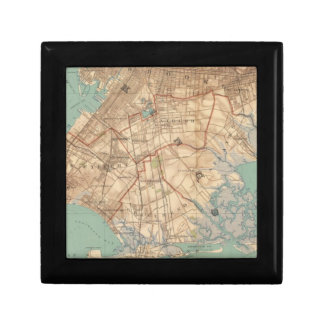Jamaica Bay and Brooklyn Small Square Gift Box