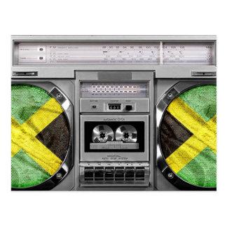 Jamaica boombox post card