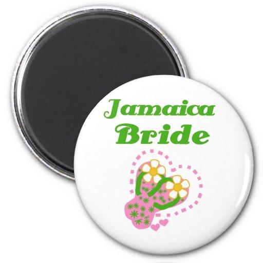 Jamaica Bride Refrigerator Magnets