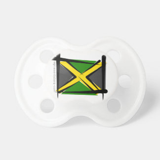 Jamaica Brush Flag Baby Pacifiers