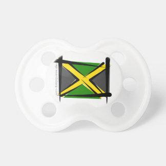 Jamaica Brush Flag Baby Pacifiers