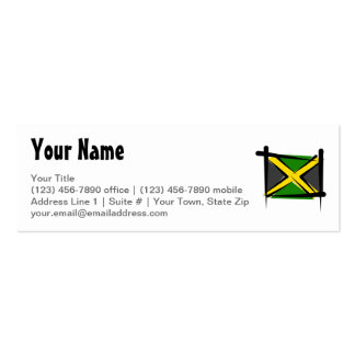 Jamaica Brush Flag Pack Of Skinny Business Cards