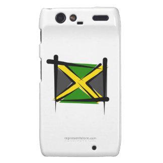 Jamaica Brush Flag Droid RAZR Cases