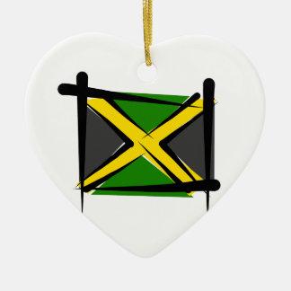 Jamaica Brush Flag Christmas Tree Ornaments