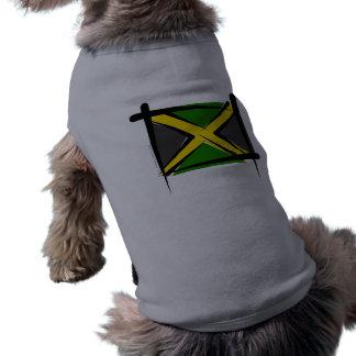 Jamaica Brush Flag Pet T-shirt