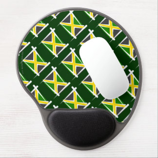 Jamaica Brush Flag Gel Mouse Pad