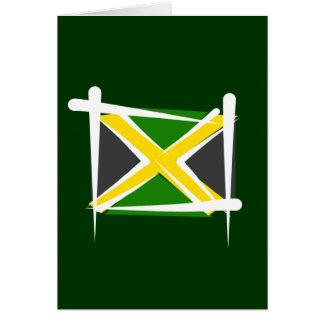 Jamaica Brush Flag Greeting Card
