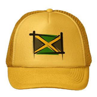 Jamaica Brush Flag Trucker Hat