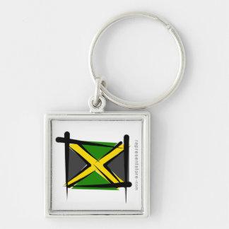 Jamaica Brush Flag Key Chains