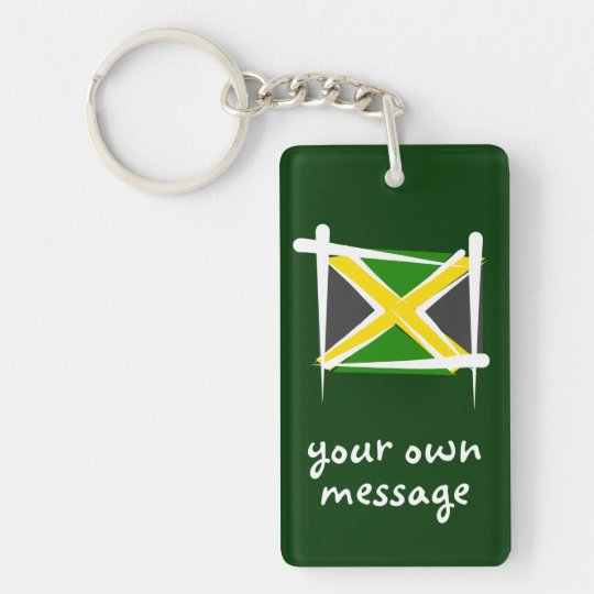 Jamaica Brush Flag Key Ring