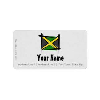 Jamaica Brush Flag Address Label