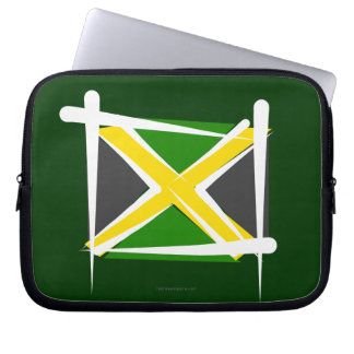 Jamaica Brush Flag Laptop Computer Sleeve
