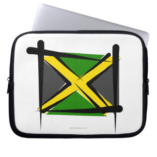 Jamaica Brush Flag Laptop Computer Sleeve