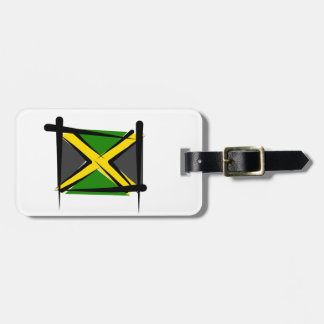 Jamaica Brush Flag Tags For Luggage
