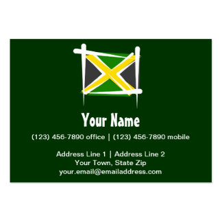 Jamaica Brush Flag Pack Of Chubby Business Cards