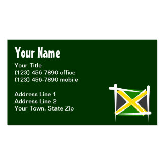 Jamaica Brush Flag Pack Of Standard Business Cards