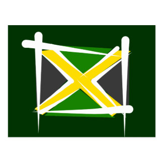 Jamaica Brush Flag Postcard