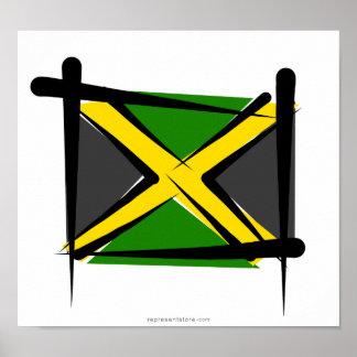 Jamaica Brush Flag Posters