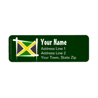 Jamaica Brush Flag Return Address Label