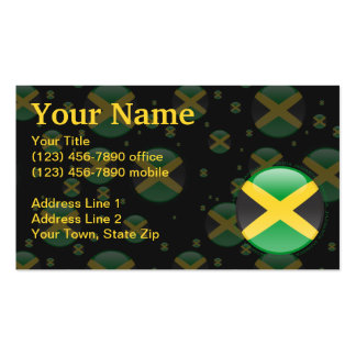 Jamaica Bubble Flag Pack Of Standard Business Cards