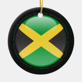 Jamaica Bubble Flag Christmas Ornament