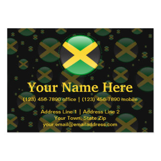 Jamaica Bubble Flag Pack Of Chubby Business Cards