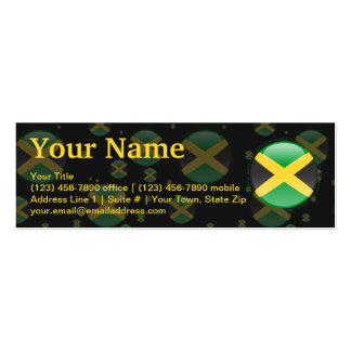 Jamaica Bubble Flag Pack Of Skinny Business Cards