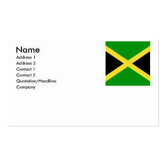 Jamaica Pack Of Standard Business Cards