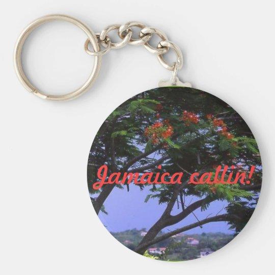Jamaica callin! basic round button key ring
