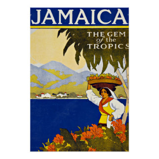 Jamaica Caribbean Sea Vintage Travel Poster