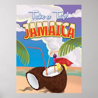 Jamaica Cartoon travel poster