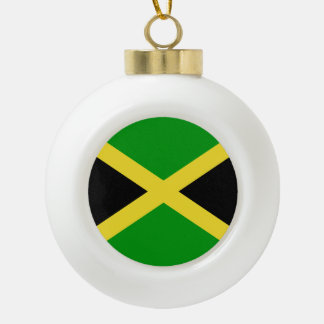 Jamaica Ceramic Ball Christmas Ornament