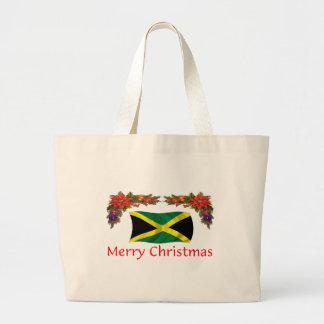 Jamaica Christmas Large Tote Bag