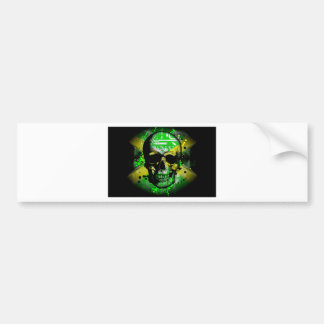 Jamaica circuit Skull Bumper Sticker