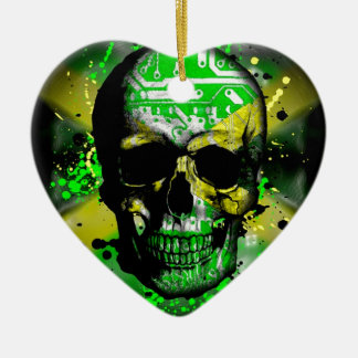 Jamaica circuit Skull Christmas Ornament