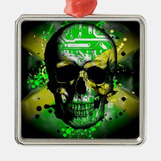 Jamaica circuit Skull Christmas Ornament
