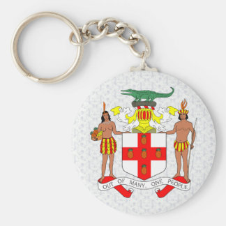 Jamaica Coat of Arms detail Basic Round Button Key Ring