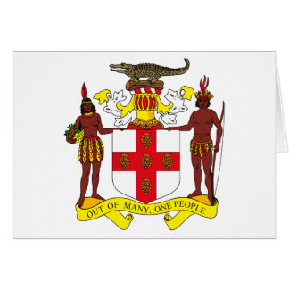 Jamaica Coat of Arms Greeting Card