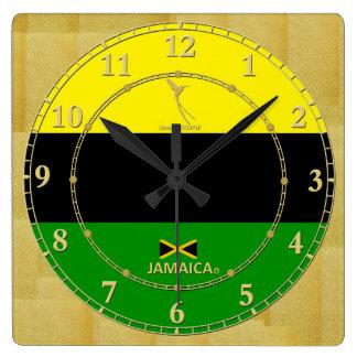 Jamaica Colours Gold Modern Wall Clock Gift Sale
