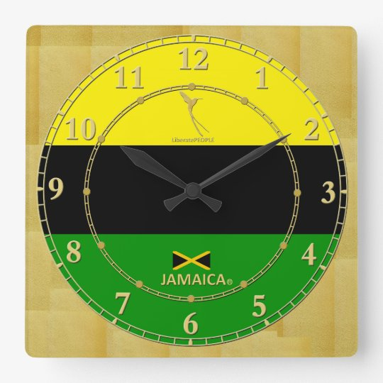 Jamaica Colours Gold Modern Wall Clock Gift Sale