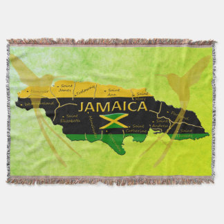 Jamaica Colours Parishes Sunlight Throw Blanket