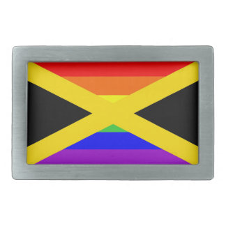jamaica country gay proud rainbow flag belt buckles