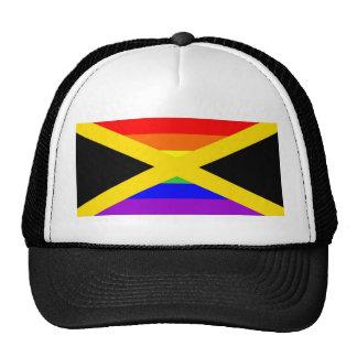 jamaica country gay proud rainbow flag homosexual hat