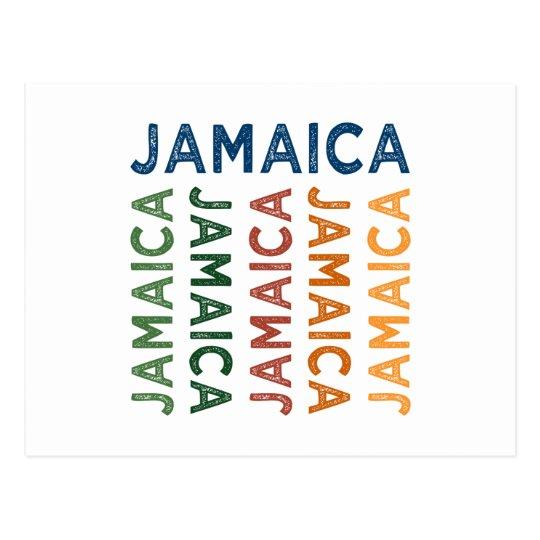 Jamaica Cute Colourful Postcard
